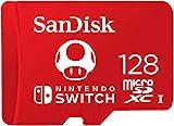 SanDisk microSDXC UHS-I Speicherkarte für Nintendo Switch 128 GB (V30, U3, C10, A1, 100 MB/s Übertragung, mehr Platz für Spiele)