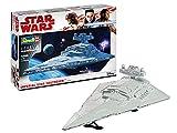 Revell 6719 Wars Imperial Star Destroyer, der Sternenzerstörer als Modell zum Selberbauen, Maßstab 1:2700, Länge 60 cm Zubehör, unlackiert