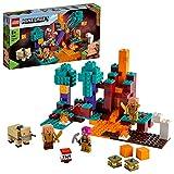 LEGO 21168 Minecraft Der Wirrwald Spielset mit Huntress, Hoglin und 2 Piglins, Spielzeug ab 8 Jahren