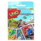 Mattel Games GWM70 - UNO Mario Kart-Kartenspiel mit 112 Karten, für Spieler ab 7 Jahren