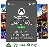 Xbox Game Pass Ultimate | 3 Monate Mitgliedschaft | Xbox/Win 10 PC - Download Code