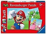 Ravensburger Kinderpuzzle - 05186 Super Mario - Puzzle für Kinder ab 5 Jahren, mit 3x49 Teilen