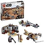 LEGO 75299 Star Wars: The Mandalorian Ärger auf Tatooine Bauset mit Baby Yoda das Kind Figur, Staffel 2, Spielset